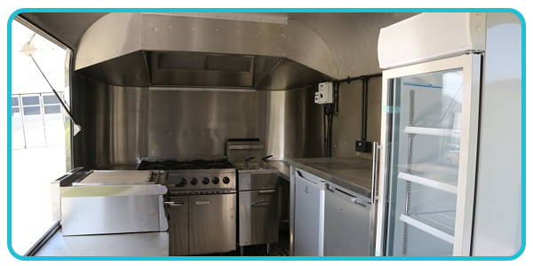 Typical interior of airstream catering trailer
